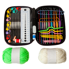 Exclusive Offer 22pcs Aluminium Crochet Hooks Set 10 Crochet Accessories and 2 Yarn Balls in Sturdy Travel Crochet Hooks Case