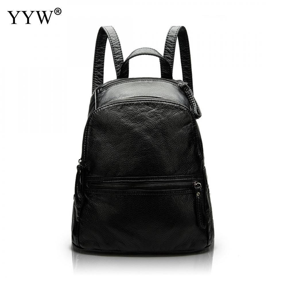High Quality Ladies Travel Backpack Korean Female PU Leather cheap backpacks waterproof<br>