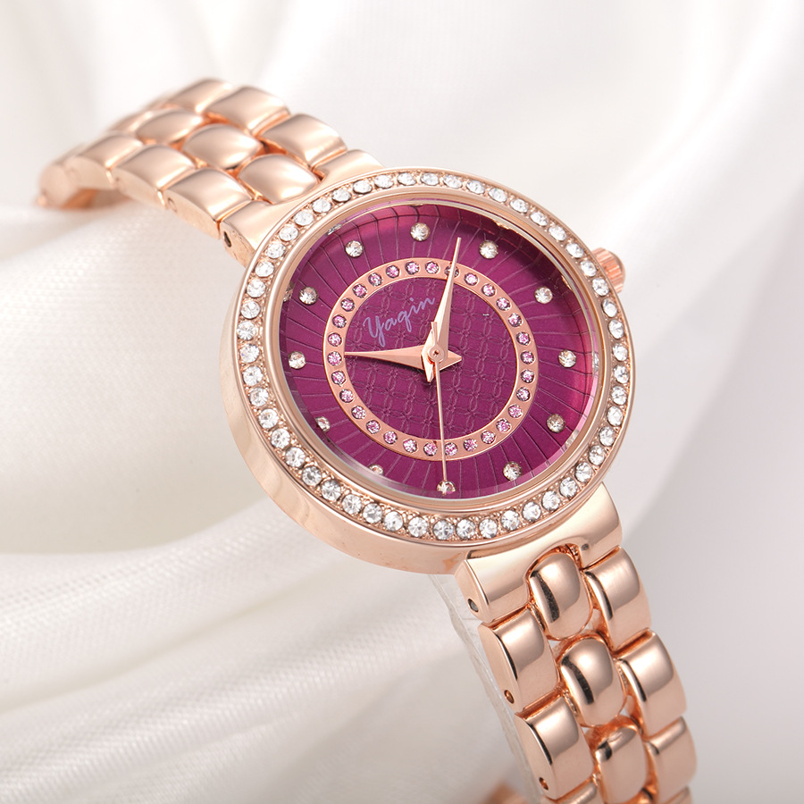 2017 girls rose gold quartz watch luxury fashion classic round crystal color watch Reloj Mujer<br>