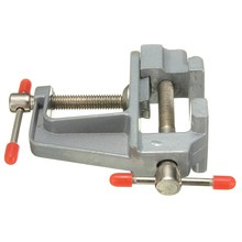 MTGATHER 35mm Aluminum MiniAture Small Jewelers Hobby Clamp On Table Bench Vise Tool Vice Durable Light Weight New Arrival