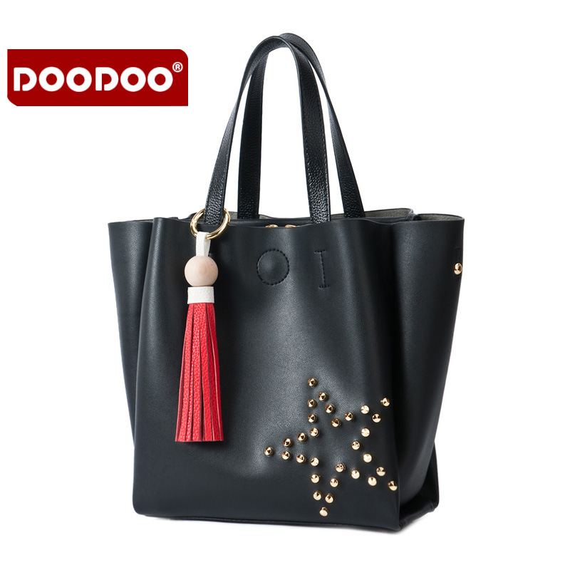 DOODOO Women Genuine Leather Handbags Cowhide bags handbags women famous brands Crossbody Women Messenger Bags Luxury new T507<br>