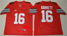 Free Shipping Nike 2017 Ohio State Buckeyes J.T. Barrett 16 Diamond Quest College Footballly Boxing Jersey - Red(China)