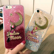 Buy luxury Sailor Moon cute glitter bling cover apple iphone 6 6s plus 5.5 7 7P 8 8P soft mobile phone cell phone Case CAPA for $4.74 in AliExpress store
