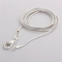 "LOVE SOUND C008 Cheap Hot 1MM Thin Top Quality 925 Stamped Silver Plated Snake Chain Jewelry Findings 16""18""20""22""24"" Wholesale"