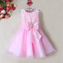Big Discount!Fashion Girl's Party Dress Flower Children Dresses Plaid Big Bow Sundress Pageant Wedding Clothes