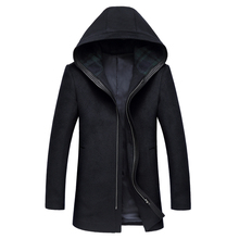Manteau Homme 2017 Brand Men Woolen Coats Winter Hooded Casual Warm Men wool coats British Style Windbreaker Casaco Masculino