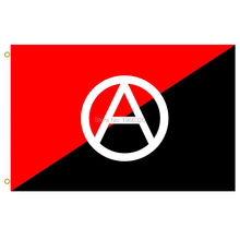 Anarchist flag with A symbol Flag A red and black used as anarchy symbol Outdoor Flag 3X5