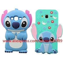 Best Selling Cartoon Stitch Design Silicone Cell Phone Case Cover For Samsung Galaxy A3 A5 J1 J2 J3 J5 J7 2016 2015(China)