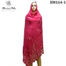 Christmas New Scarf 2016 New Muslim Embroidery Women African Big  scarf ,high quality cotton scarf soft material Winter scarf