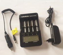 Liitokala LCD3.7 lii - 500 V / 1.2 V quick charge AA/AAA / 16340/14500/18650/26650 18650/26650 'Charger with screen + 12 v2a ada