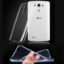 Ultra Thin Crystal Clear Transparent Soft Silicone TPU Case Cover for LG G2/G3/G3mini/G4/G4 mini/G5/G6 /V10/K3/K4/K5/K10/K8 2017