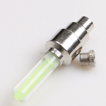 Hot Sale 3Pcs LED Flash Spoke Wheels Tyre Tire Valve Caps Glo-Sticks LED Light For Car Motorcycle Bike Cycling Green New