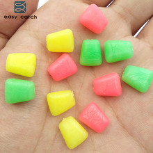Easy Catch 50pcs Soft Carp Fishing Corn Baits Yellow Pink Green Artificial Floating Rubber Sweet Corn Carp Fishing Lures(China)