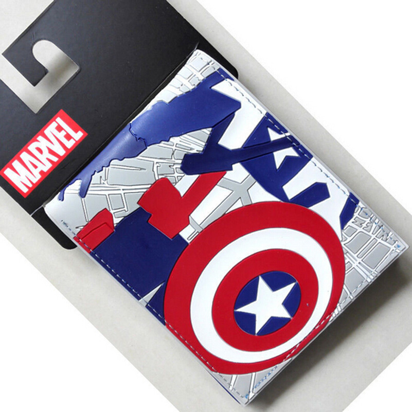The marvel Marvel Avengers surrounding cartoon iron man Captain America spider man purse wallet<br><br>Aliexpress