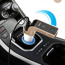 Car Charger 4 in 1 Hands Free Wireless Bluetooth FM Transmitter Modulator Car Kit MP3 Player SD USB LCD Car Music Player G7 AUX