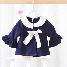 2017 spring and autumn new Korean children wear infant baby girls cardigan jacket windbreaker jacket girls outerwear coats(China)