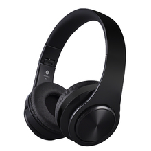 Adjustable Wireless Bluetooth Headphones Super Bass Stereo Earphones Foldable Headset Support TF Card Handsfree With Mic(China)