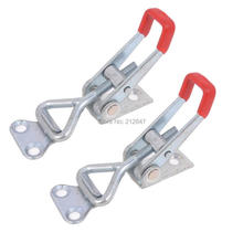 2 Pcs  Lever Door Button Type Metal U Nonslip Handle Triangle Shaped Lever Latch 100Kg 220Lbs Holding Capacity Toggle Clamp 4001