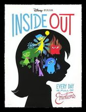 Inside Out - Pixar Cute Catoon Movie art silk Poster