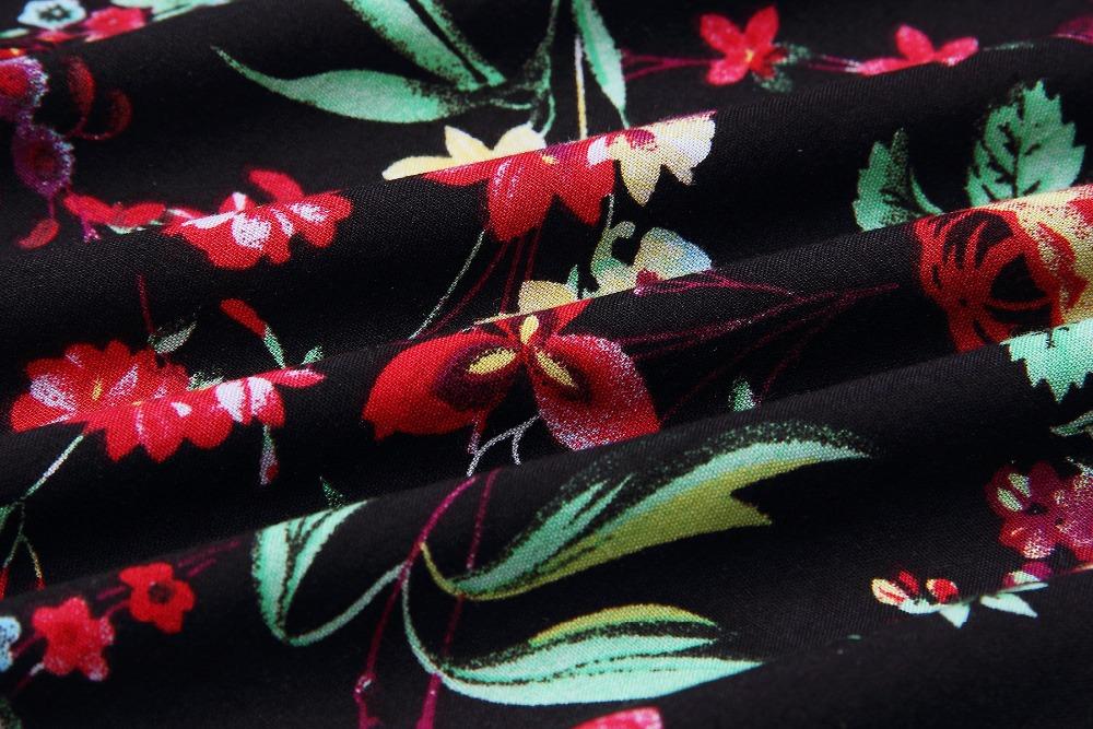 Print Floral Loose Boho Bohemian Beach Dress Women Sexy Strap V-Neck Retro Vintage Long Maxi Dress Summer 2017 Plus Size 3XL 15