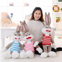 Cartoon Selling Item Plush Bugs Bunny Stuffed Animal Kawaii Doll For Kids Soft Pillow For Girls Funning Toy Free Shipping
