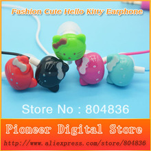 New Style High Quality Super Bass Headset 3.5mm Hello Kitty Stereo Earphones Headphones For iPhone MP3 MP4