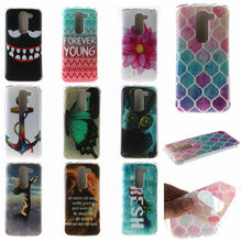 2016 Luxury Floral Painted Case For LG G2 Mini D620 D618 Cover Soft TPU Cell Phone Case For LG G2 Mini Case Silicone Shell Coque(China)