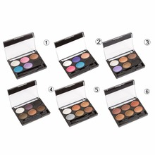 6 color Eyeshadow Palette Waterproof Shimmer Shine Eye shadow for Women Makeup Beauty Cosmetics Tool(China)