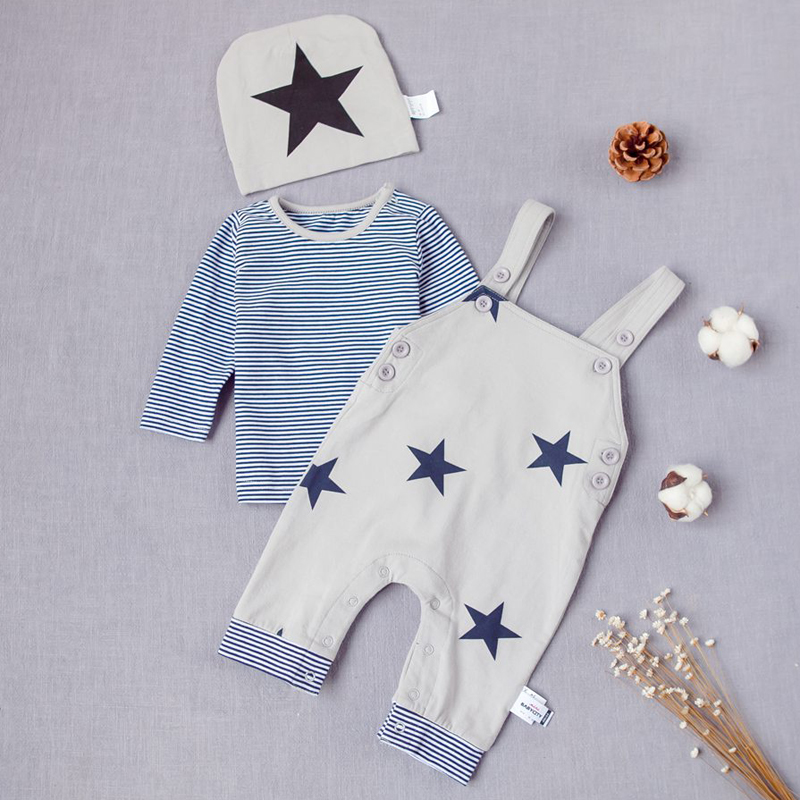 3pcs/set High Quality Brand Baby Rompers Sets,Star Rompers Set Baby Boys Girls,Cotton Spring Autumn Long Sleeve Rompers Boys.<br><br>Aliexpress