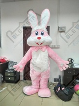 high quality EVA head with fan and helmet pink bunny mascot costume cartoon easter rabbit costumes