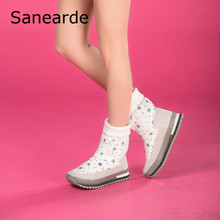 Winter Hot Sale Women Shoes Mid-Calf Plush Inner Women Boots Fashion Waterproof Warm Flat Footwear Shoes Snow Boots Winter Boots