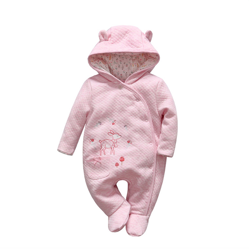 2018 Cute Bear tender Babies girl winter clothes romper baby Outwear climb clothing thick cotton body suit Long Sleeve jumpsuits<br>