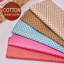 5PCS Cartoon Polka Dot Printed Cotton Cloth Baby AB Version Bed Linen Patchwork Cotton Fabrics Wholesale Handmade DIY 20x25CM