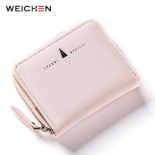 WEICHEN New Style Women Wallets Short Zipper Coin Pocket Letter Hasp Small Purse Ladies Famous Brand Fashion Mini Bags(China)