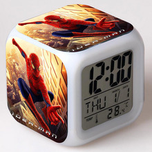 Spiderman Doll PVC Spider-man Action Figure Alarm Clock Model Toy Gift For Children
