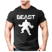 New Brand clothing Bodybuilding Fitness Men beast printed t-shirts Golds Gorilla Wear tee shirts Stringer tops(China)
