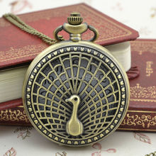 30pcs/lot DHL Free Shipping Bronze Peacock Pocket Watch High Quality Watch Necklace  Gift Watch Factory Price  Wholesale
