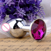 Sex Small Size Metal Anal Toys Butt Plug Stainless Steel Anal Plug, Sex Toys Sex Adults Products For Women and Man(China)