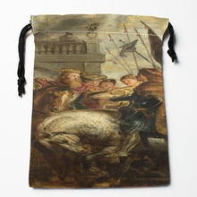 Best Peter Paul Rubens 04 Drawstring Bags Custom Storage Printed Receive Bag Compression Type Bags Size 18X22cm Storage Bags(China)