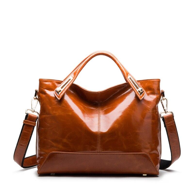 High-end boutique PU Bag Brand Fashion Women Messenger Bags Oil Wax Patent Luxury Handbag High Quality Leather Bag Should Bags<br><br>Aliexpress