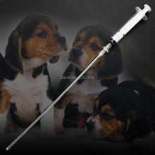 10sets Canine Dog Goat Sheep Bird Horse Artificial Insemination AI Breed Feed whelp Kid Kit Catheter 11 inch rod + 10ml syringe(China)