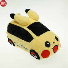 OHMETOY Pikachu Car Plush Baby Dolls Cute Vehicle Game Toy 17cm Plushie Kawaii Gift For Kids Birthday Christmas Brinquedos(China)