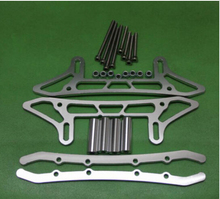 ALLOY CHASSIS SLED GUARD FOR RC Crawler SCX10 Silver(China)