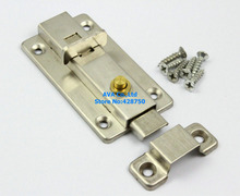 "2 Press Open 3"" Spring Slide Bolt Door Latch Lock / Stiainless Steel"