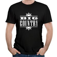 Tee Shirt Sites Men'S Short Sleeve Graphic O-Neck Rock Band Big Country Logo Tees(China)