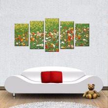 Free Shipping Modern Colorful Flowers HD Giclee Prints Painting Artwork Abstract Floral Scenery Modular Wall Paintings Pictures