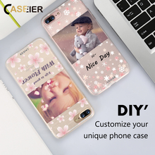 CASEIER  Art Print Case For Apple iPhone 6 6s 7 Plus Soft TPU Customized Print Design Logo Photo Cover For Samsung Xiaomi Huawei