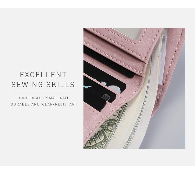 PU Leather,wallet female,wallet female women zipper,Fashion,Casual,Vintage,Black,Red,Brown,Blue,Pink wallet female leather (7)