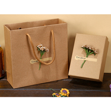 DIY Kraft Paper Box Gift Box For Wedding Favors Birthday Party Candy Cookies Christmas party gift ideas Box(China)