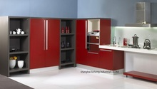 melamine/mfc kitchen cabinets(LH-ME064)(China)